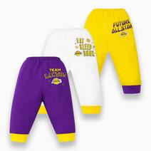 NBA Baby - 3-Piece Pajama Pants (Future All Star - Lakers) by Cotton Stuff