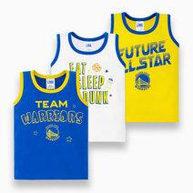 NBA Baby - 3-Piece Sando (Future All Star - Warriors) by Cotton Stuff