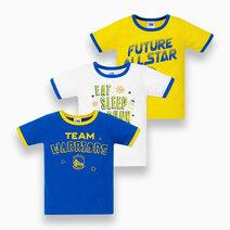 NBA Baby - 3-Piece T-Shirt (Future All Star - Warriors) by Cotton Stuff