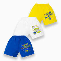 NBA Baby - 3-Piece Shorts (Future All Star - Warriors) by Cotton Stuff
