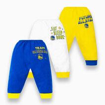 NBA Baby - 3-Piece Pajama Pants (Future All Star - Warriors) by Cotton Stuff