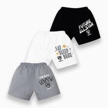 NBA Baby - 3-Piece Shorts (Future All Star - Nets) by Cotton Stuff