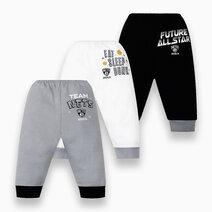 NBA Baby - 3-Piece Pajama Pants (Future All Star - Nets) by Cotton Stuff