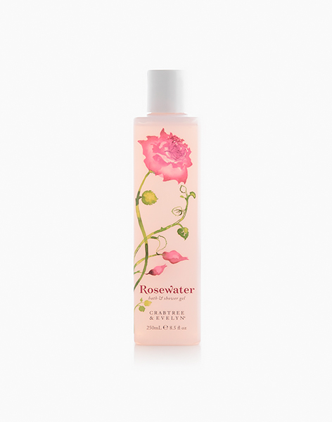 Rosewater Bath & Shower Gel (250ml) by Crabtree & Evelyn