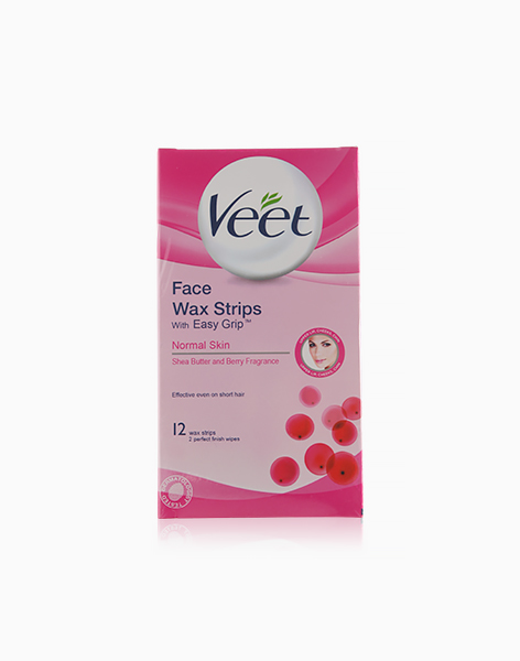 Face Wax Strips with Easy Grip (Normal Skin) by Veet