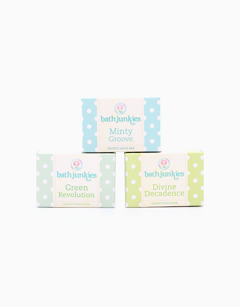 Gift Set 2: Divine Decadence, Green Revolution, & Minty Groove Groovy Bath Bars by Bath Junkies