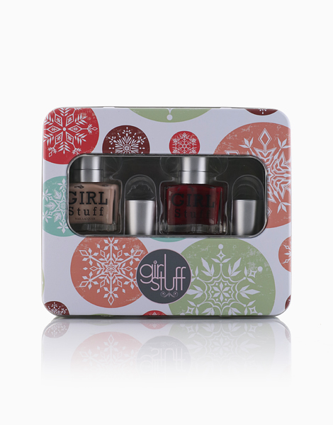 GirlStuff Holiday Collection: Death by Chocolate, You Had Me at Merlot, Crème de la Crème + Top Coat Nail Polish by Girlstuff
