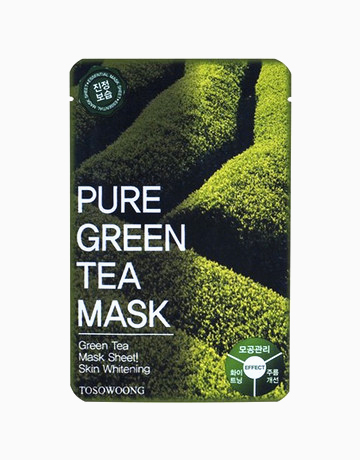 Pure Green Tea Mask Pack (Dual-Functional in Whitening and Anti-Wrinkle) by Tosowoong
