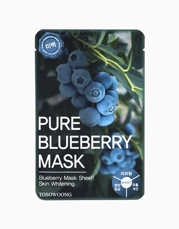 Pure Blueberry Mask Pack (Dual-Functional in Whitening and Anti-Wrinkle) by Tosowoong