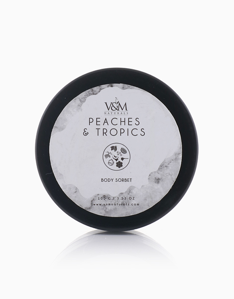 BeSpoke Fragrance Peaches and Tropics Body Sorbet by V&M Naturals