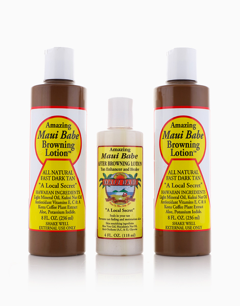 Maui Babe Bundle of 2: Browning Lotion (8oz) + After Browning Lotion (4oz) by Maui Babe