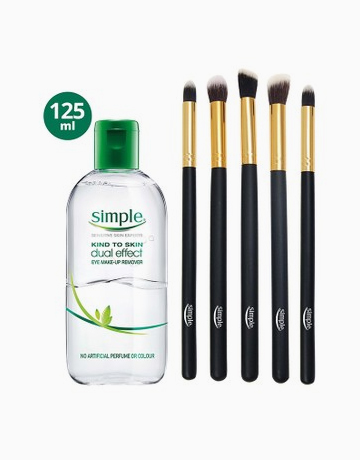 Eye Makeup Remover (125ml) + FREE Brush Kit by Simple