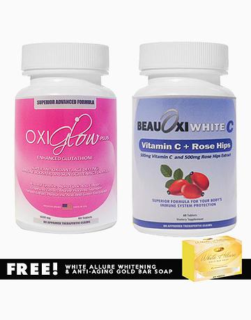 Oxiglow Plus Enhanced Glutathione And BeauOxi White-C Vitamin C Whitening Combo by Oxiglow