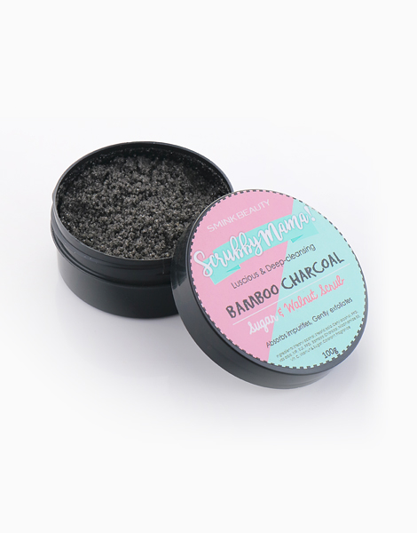 Scrubby Mama Bamboo Charcoal Scrub With Sugar Walnut Beads by Smink Beauty PH