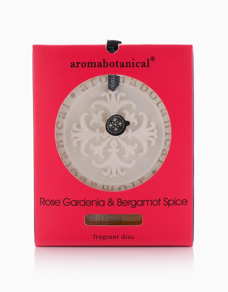 Ceramic Fragrance Disc  by Aromabotanical Philippines | Rose Gardenia and Bergamot Spice