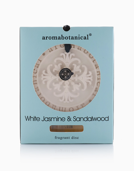 Ceramic Fragrance Disc  by Aromabotanical Philippines | White Jasmine and Sandalwood
