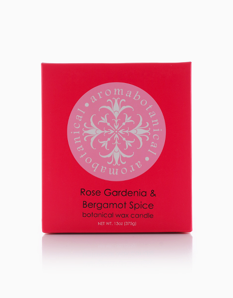 2-Wick Candle  by Aromabotanical Philippines | Rose Gardenia and Bergamot Spice