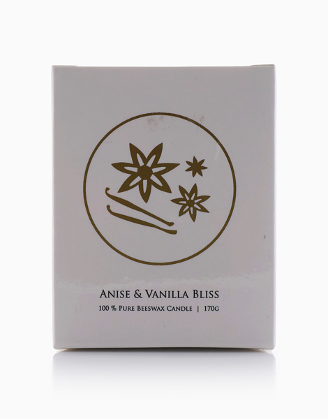 100% Pure Beeswax Candle by V&M Naturals   Anise and Vanilla bliss