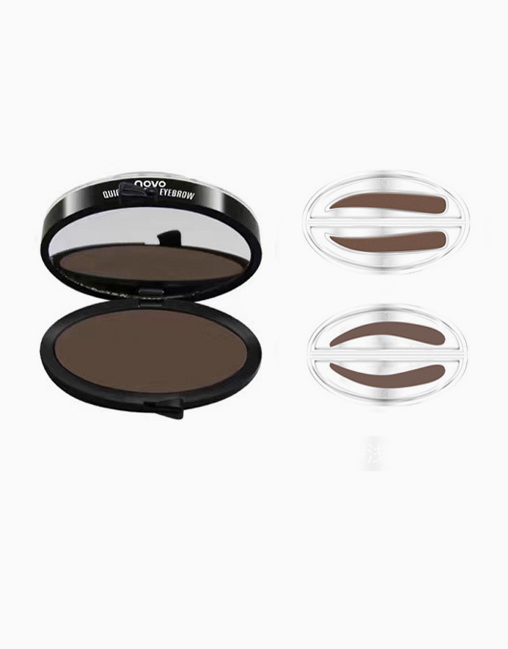 Eyebrow Stamp Set by Novo Cosmetics | Dark Brown