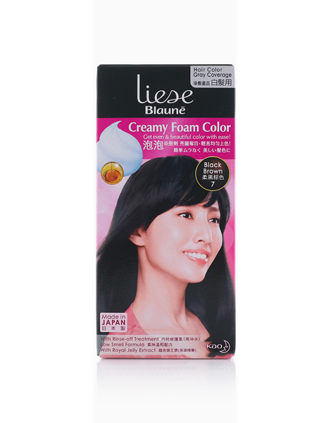 Liese Blaune Creamy Foam Color by Liese | BLACK BROWN