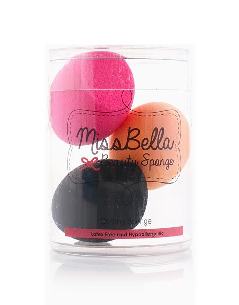 3-Piece Mini Sponge by Miss Bella PH | Pink,Orange,Black
