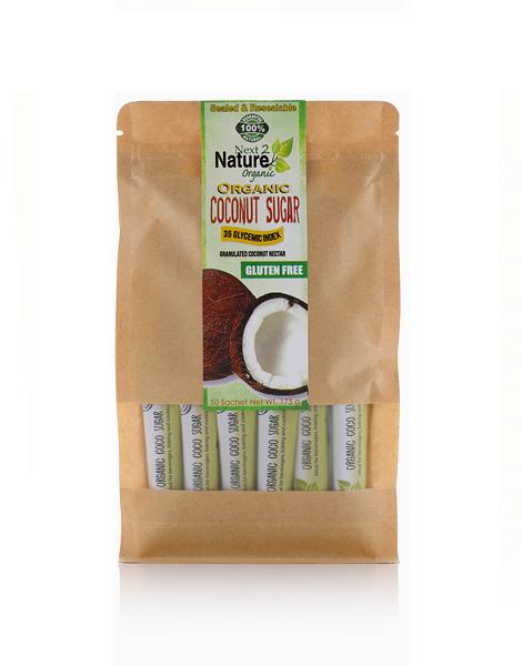 Premium Grade Coconut Sugar Sachets (50 pcs) by Next2Nature