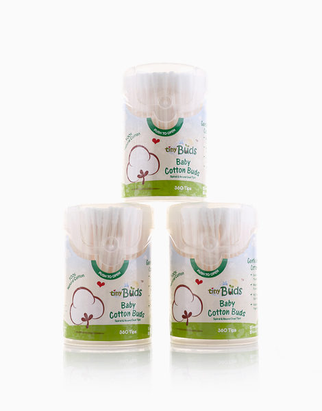Baby Cotton Buds Bundle of 3 (360 Tips) by Tiny Buds
