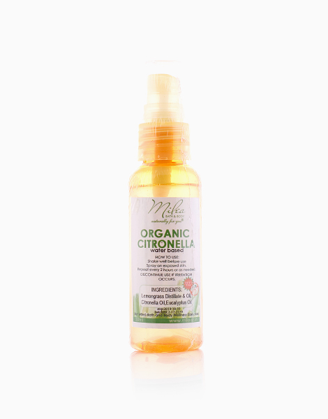 Organic Citronella Water-Based Mosquito Repellent (50ml) by Milea