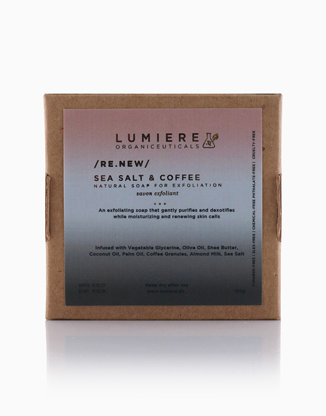 Sea Salt & Coffee: Natural Soap for Exfoliation by Lumiere Organiceuticals
