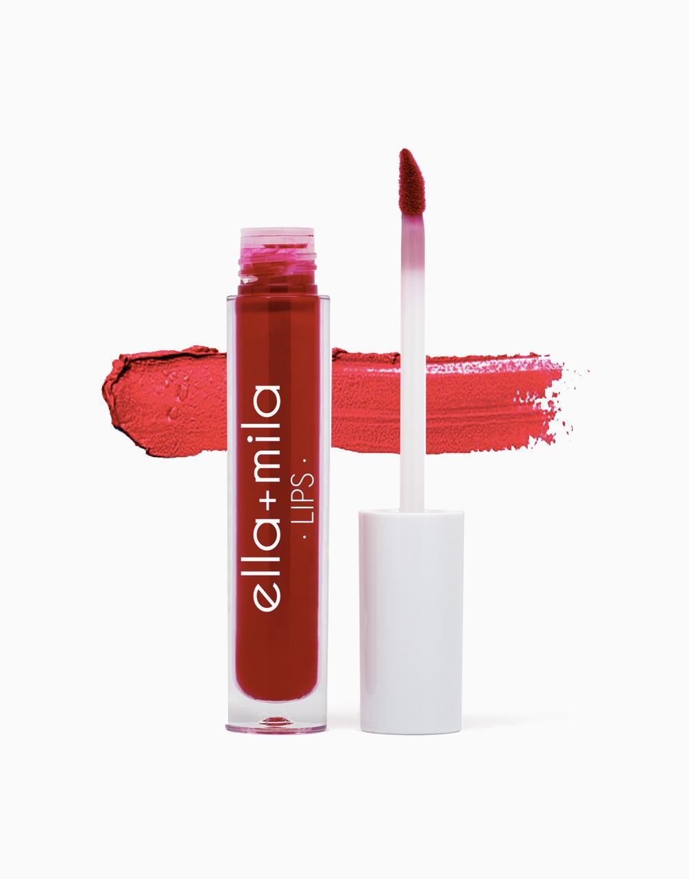 Velvet Matte Liquid Lipstick by Ella + Mila | You Red My Mind