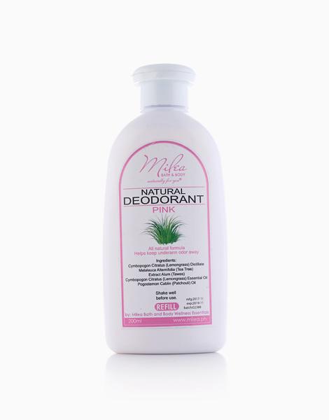 Lemongrass Deodorant Pink Refill (200ml) by Milea