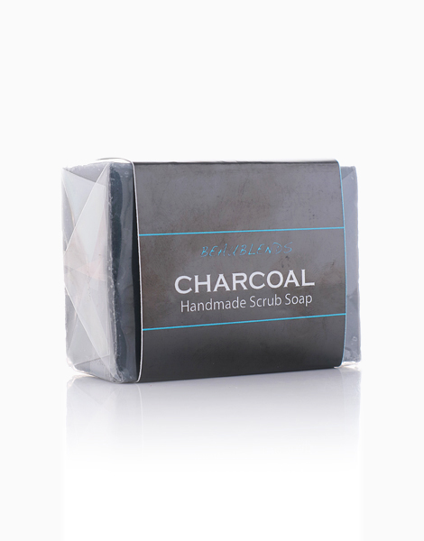 Charcoal Handmade Scrub Soap by Beaublends