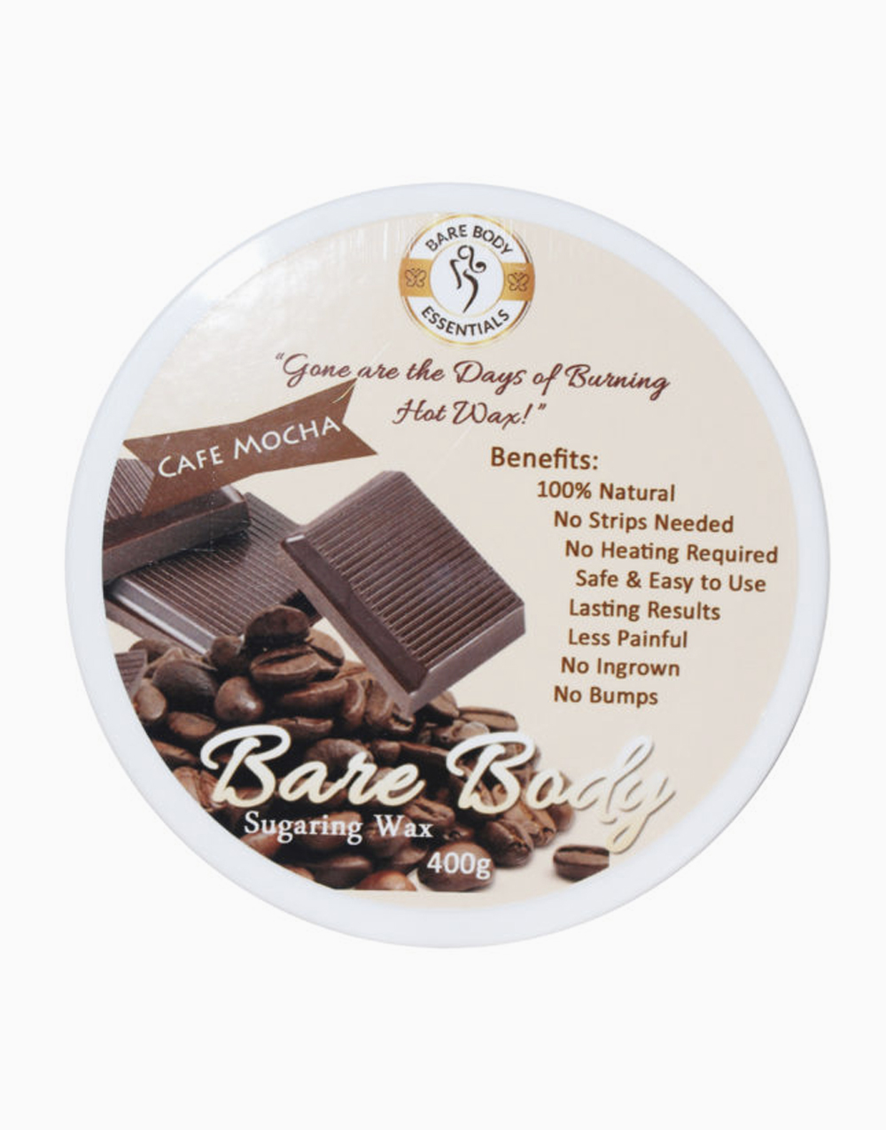 Bare Body Sugaring Wax (400g) by Bare Body Essentials | Cafe Mocha