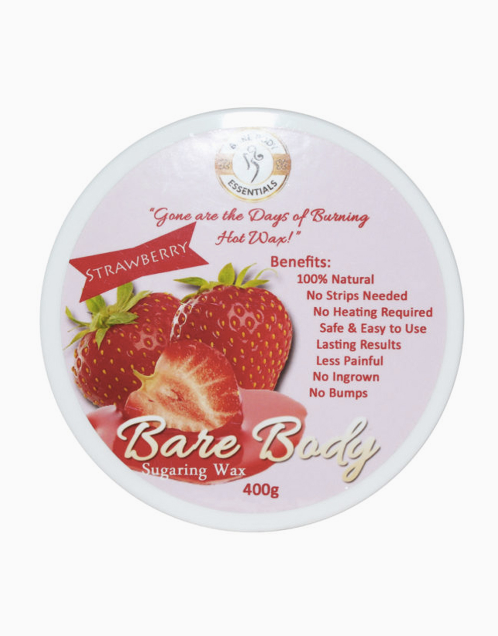 Bare Body Sugaring Wax (400g) by Bare Body Essentials | Strawberry