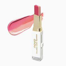 Novocosmetics two tone lip bar in  1 hot pink  nude