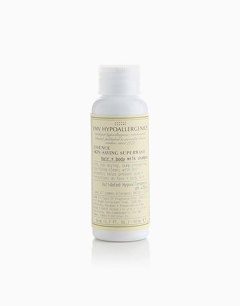 Essence Skin-Saving Superwash Hair + Body Milk Shampoo Mini (50ml) by VMV Hypoallergenics