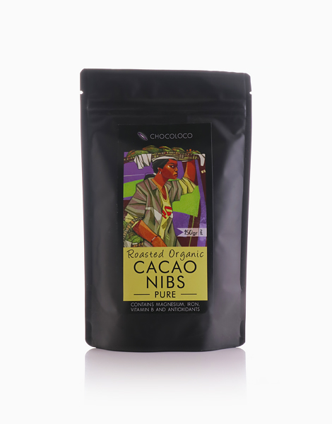 Pure Roasted Organic Cacao Nibs (150g) by Chocoloco
