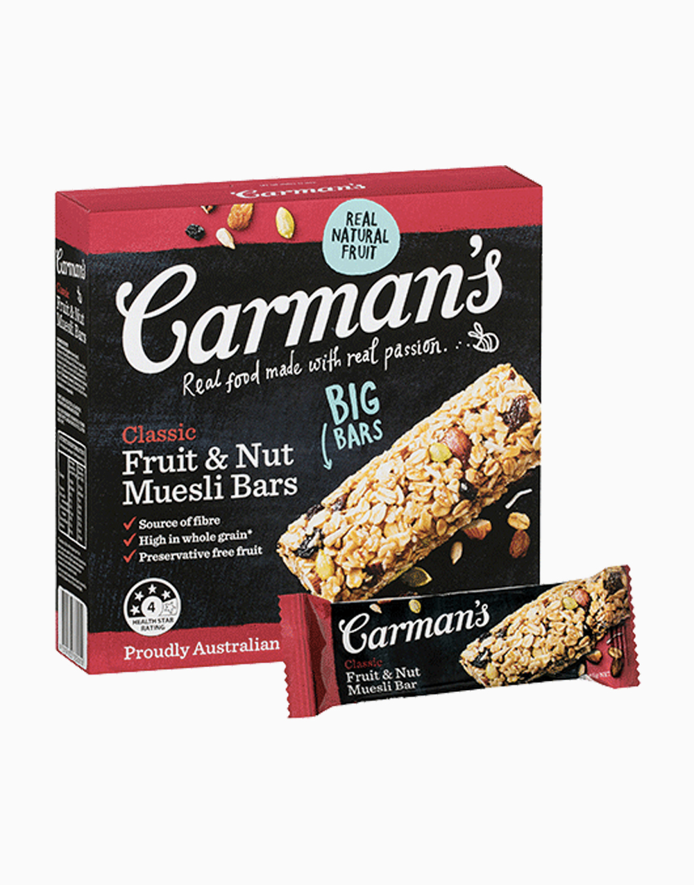 Classic Fruit and Nuts Muesli (45gx6) by Carman's