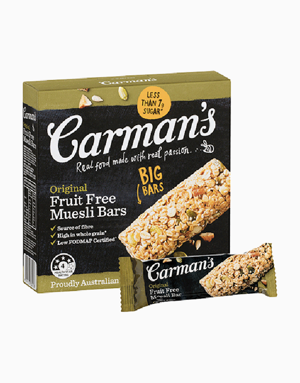 Fruit Free Muesli Bar (45g x 6pcs) by Carman's