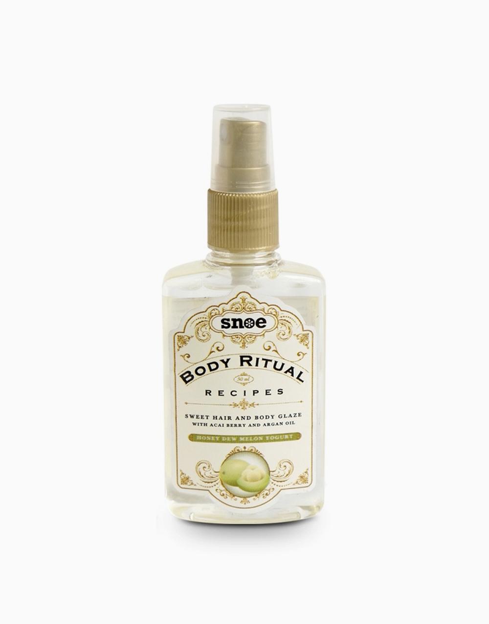 Body Ritual Recipes Sweet Hair & Body Glaze by Snoe Beauty | Honey Dew Melon Yogurt