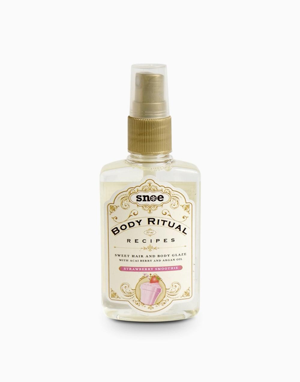 Body Ritual Recipes Sweet Hair & Body Glaze by Snoe Beauty | Strawberry Smoothie