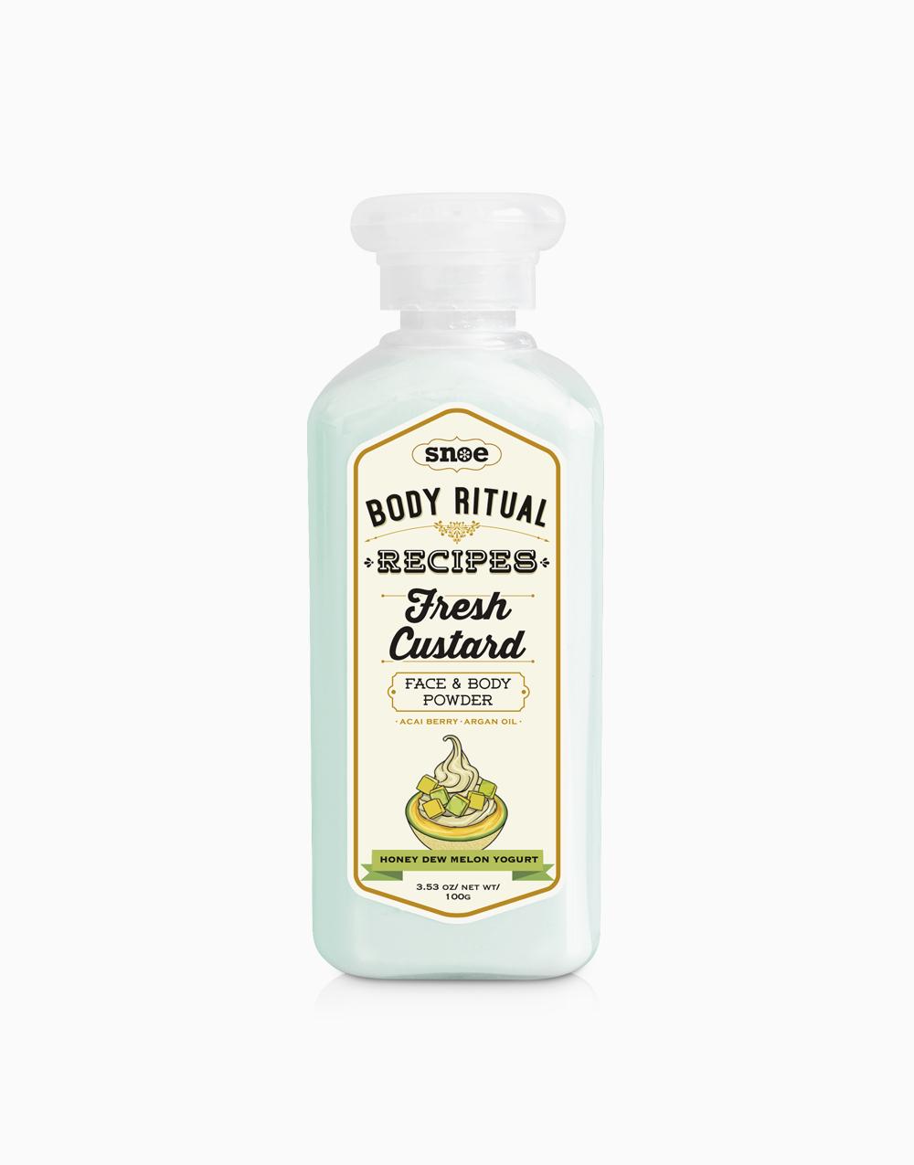 Body Ritual Recipes Fresh Custard Powder by Snoe Beauty   Honey Dew Melon Yogurt