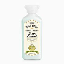 Snoebeauty body ritual recipes fresh custard powder honey dew melon yogurt