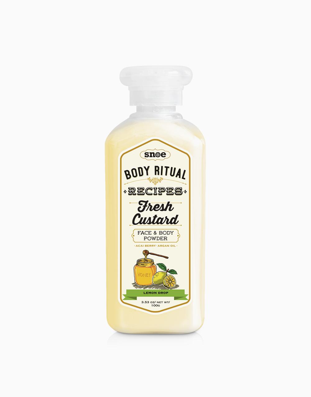 Body Ritual Recipes Fresh Custard Powder by Snoe Beauty   Lemon Drop