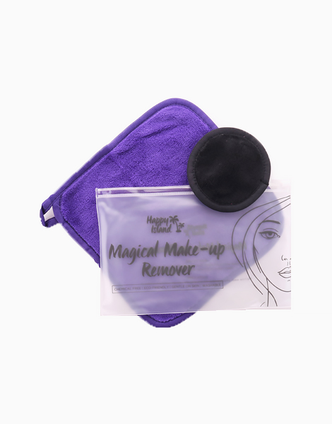 Magical Makeup Remover Towel Set: Eye Makeup Remover + Small Towel by Happy Island