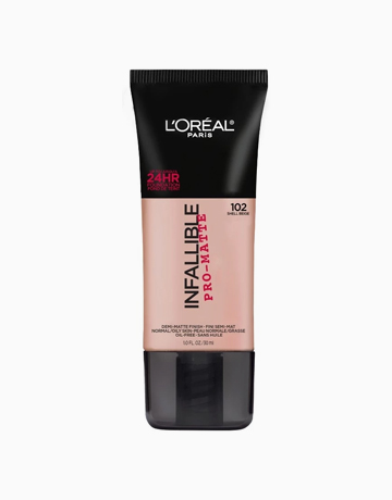 Infallible Pro-Matte Foundation by L'Oréal Paris | 102 Shell Beige
