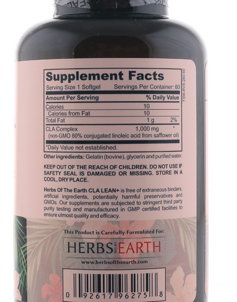 CLA LEAN+ Active Weight Loss (60 Softgels) by Herbs of the Earth