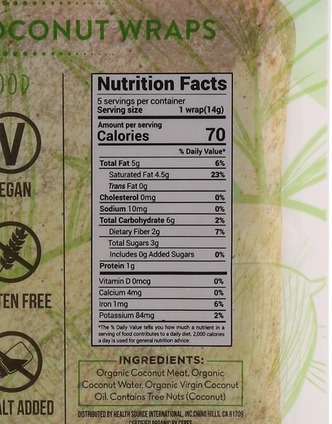 Original Organic Coconut Wraps by Nuco
