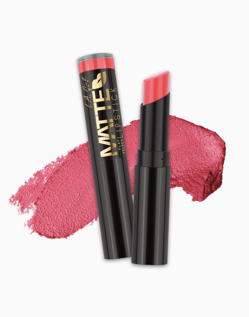 Flat Velvet Matte Lipstick by L.A. Girl | Hot Stuff