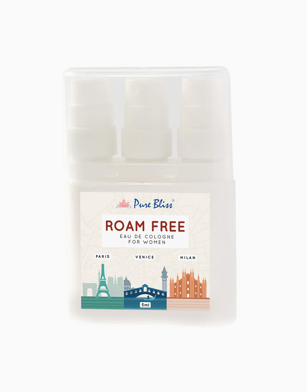 Roam Free Triplets Eau de Cologne for Women (5ml) by Pure Bliss